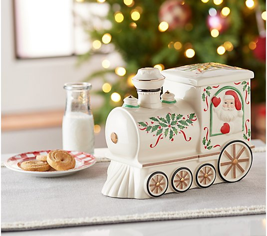 Lenox Holiday Porcelain Musical Cookie Jar