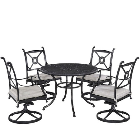 "Athens 42"" Patio Table w/ Four Swivel Chairs"