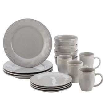Rachael Ray Cucina Dinnerware 16-Pc Stoneware Dinnerware Set - H290230  sc 1 st  QVC.com & Rachael Ray u2014 Sets u2014 Dinnerware u2014 Tabletop u0026 Bar u2014 Kitchen u0026 Food ...