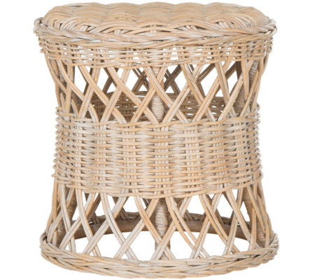 Desta Wicker Round Accent Table by Valerie