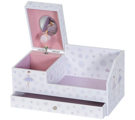 Mele & Co. Bethany Girl's Musical Ballerina Jewelry Box