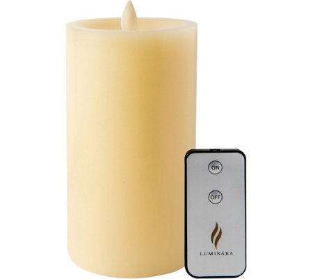 "Luminara 7"" Sunken Top Flameless Candlewith Remote"