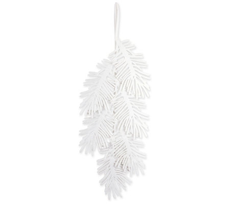 DII Large Hanging Holiday Sparkling Pine LeavesDecoration