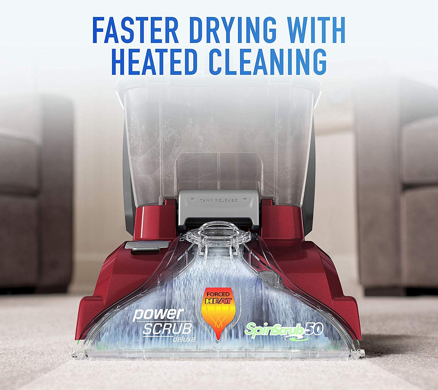Hoover Fh50150nc Power Scrub Deluxe Carpet Washer Qvc Com