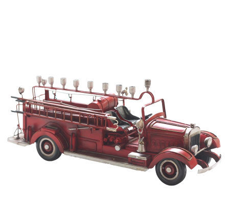 Copa Judaica Old-Time Fire Wagon Menorah