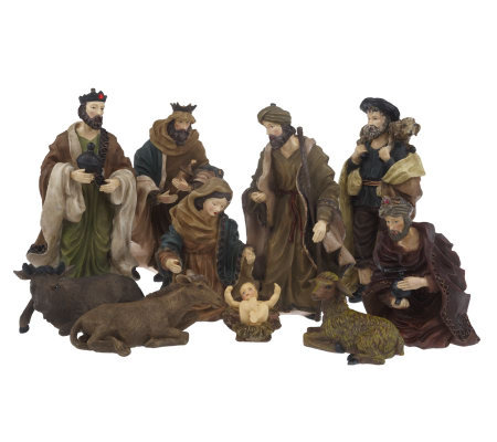 Linda Dano 10 Piece Resin Nativity Set