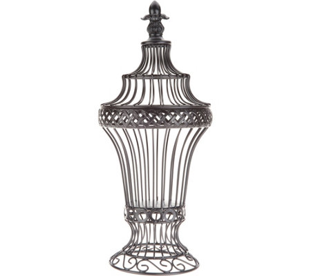 "Indoor/ Outdoor 18"" Wire Footed Urn by Valerie"