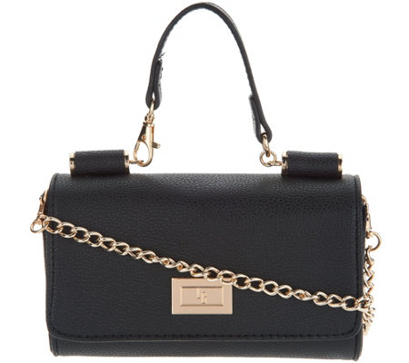 """As Is"" Petite Handbag with Detachable Chain by Lori Greiner"