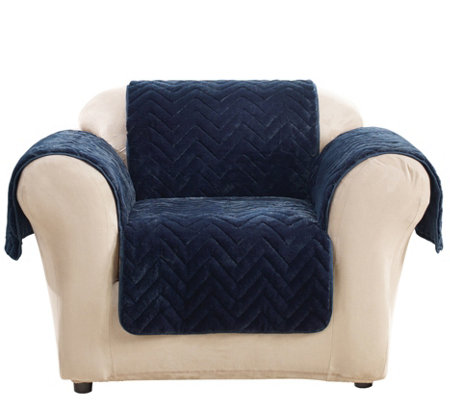 Sure Fit Sheared Faux Fur Chair Furniture Cover