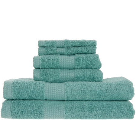 Home Reflections 6-Piece Towel Set w/ Silvadur Technology