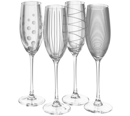 Mikasa Set of 4 Flutes - Cheers Collection