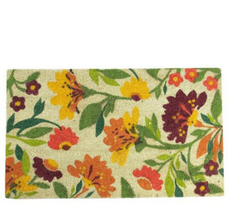 Northlight Multi-Color Spring Floral Door Mat