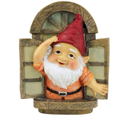 Design Toscano Window Gnome Tree Sculpture