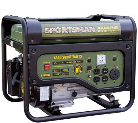 Sportsman Gasoline 4000 Watt Portable Generator — QVC com