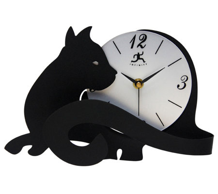 Infinity Instruments Purrfect Timing Tabletop Cat Clock