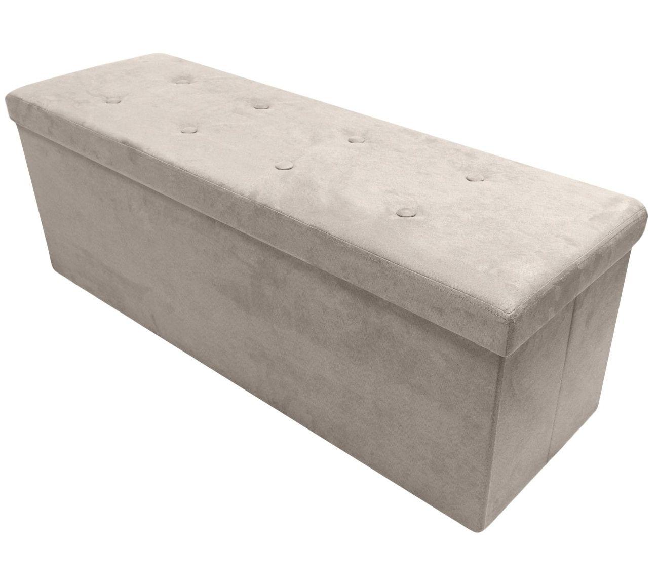 Sorbus Storage Bench Chest Ottoman W Cover Faux Suede Large Qvc Com