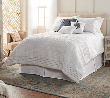 Northern Nights Pleated Cotton 7-Piece Full Comforter Set