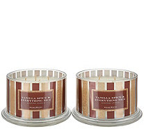 Ships 12/7 HomeWorx Set of (2) 18oz Vanilla Spice 4-Wick Candles - H219032