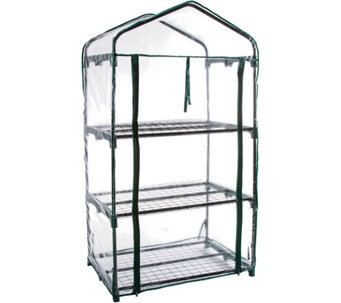 Pure Garden 3 Tier Mini Greenhouse With 3 Shelves And Cover   H295332