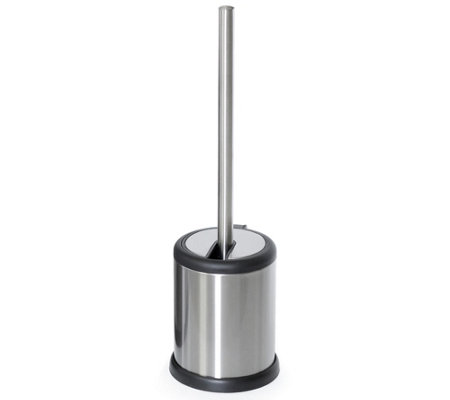 Deluxe Stainless Steel Toilet Brush With Lid