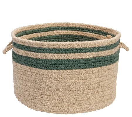 Colonial Mills Cabin Stripe Basket 14 X 14 X 10