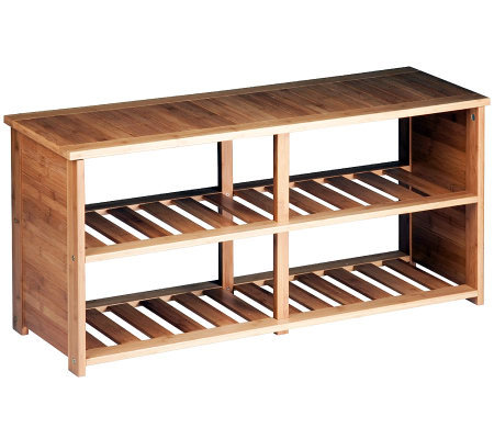 Honey-Can-Do Bamboo Shoe Bench