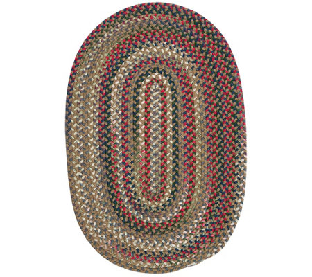 Chestnut Knoll 2' x 3' Oval Braided Rug by Colonial Mills