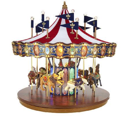 Mr Christmas Carousel.Mr Christmas Flag Carousel With Lights And Music Qvc Com
