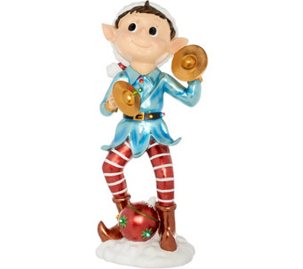 kringle express 36 oversized indooroutdoor illuminated elf winstrument h211533 - Qvc Outdoor Christmas Decorations
