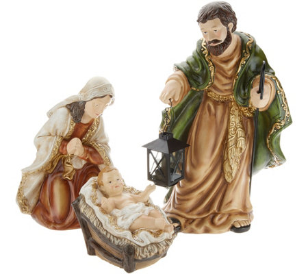 """As Is"" Indoor/ Outdoor 3-Piece Holy Family Display by Valerie"