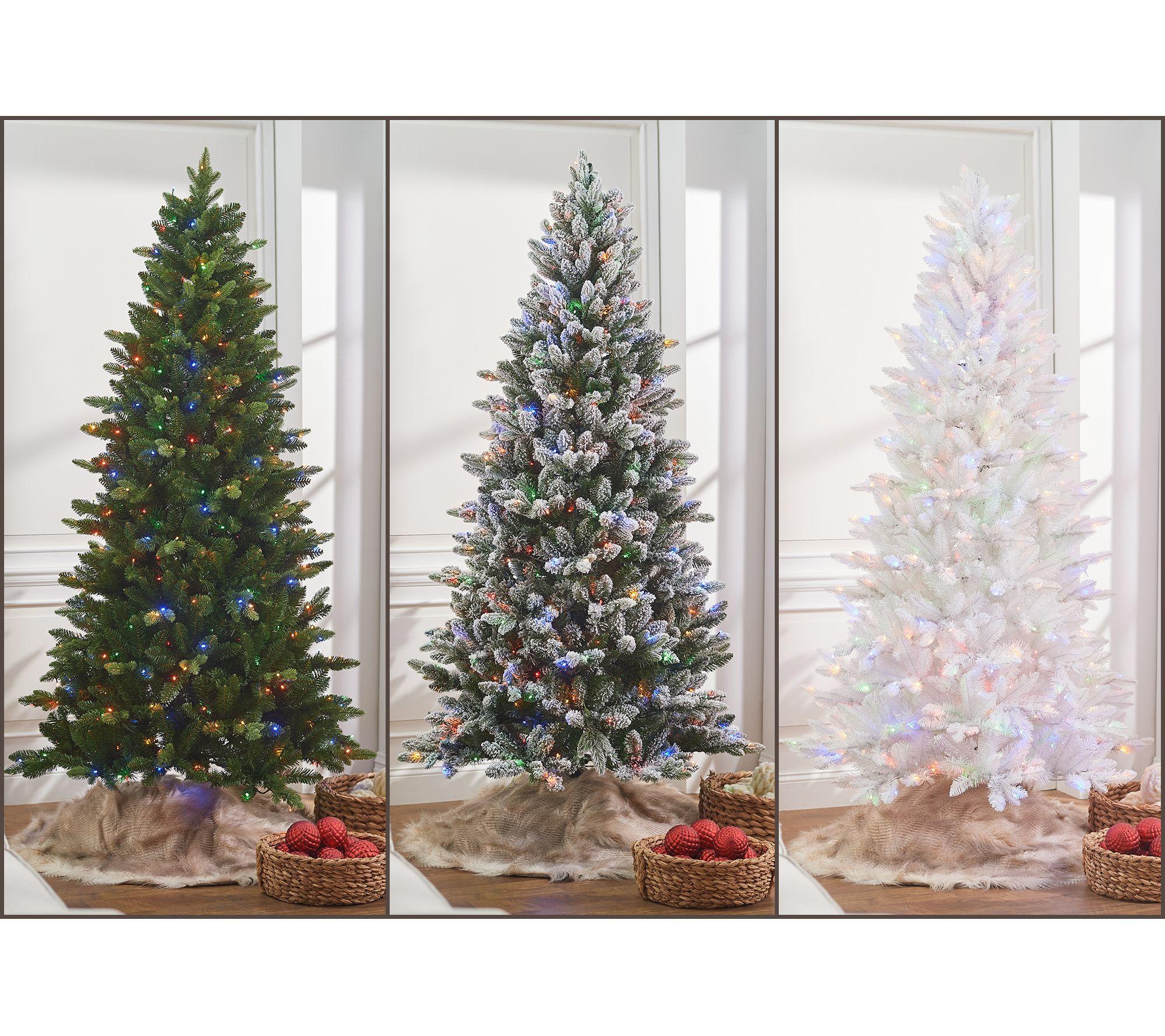 Bethlehem Lights Led Color Change Heritage Christmas Tree Qvc Com