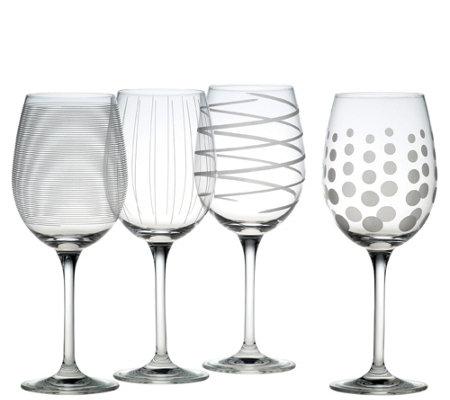 Mikasa Set of 4 White Wine Glasses - Cheers Collection