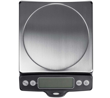 OXO Good Grips 11-lb Stainless Steel Pull-Out Display Scale