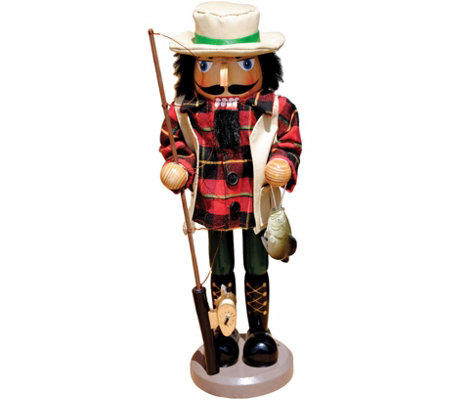 "14"" Bass Fisherman Nutcracker by Santa's Workshop"