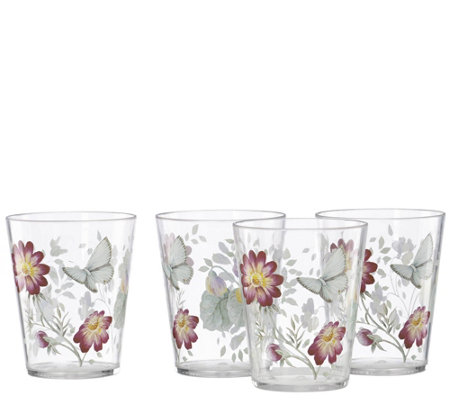 Lenox Set of 4 Butterfly Meadow Double Old-Fashioned Glasses