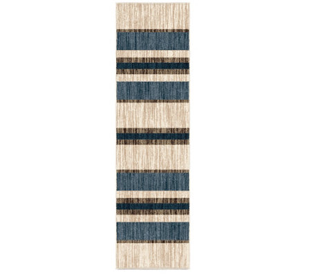Orian Rugs 2x8 Indoor Outdoor Tourist Stripe Natural Runner