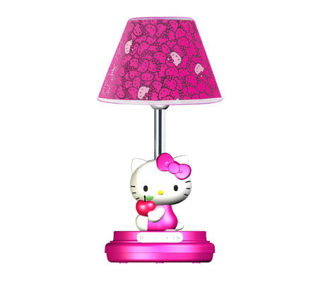 "Hello Kitty 16-1/2"" Magenta Table Lamp"