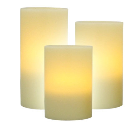 Pacific Accents Set of 3 Graduated Flameless Candles