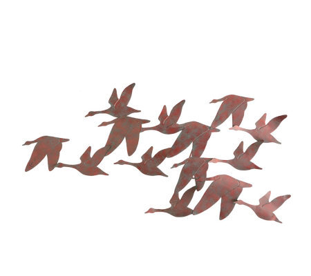 Flock of Geese Metal Wall Art