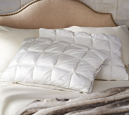 Charisma Set of 2 400TC Microgel Standard Pintuck Pillows