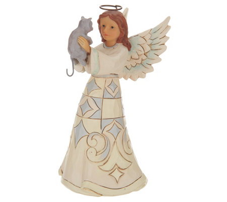 Jim Shore Woodland Collection Angel with Cat Figurine