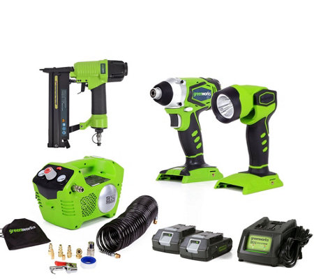 Greenworks G24 24V Compressor Combo Kit