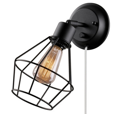 Globe Electric Verdun one Light Plug-In/Hardwire Wall Sconce