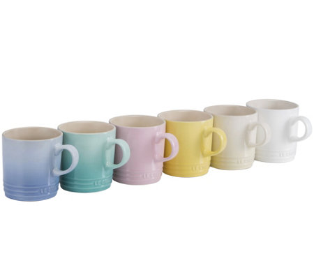 Le Creuset Sorbet Collection Set of 6 Mugs