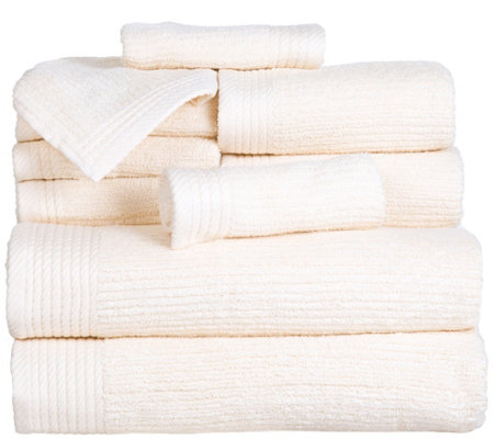 Lavish Home Ribbed 100% Cotton 10-Piece Towel Set