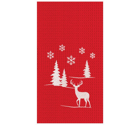C F Home Sleigh Ride Kitchen Towel Set Of 2