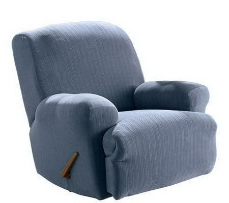 Sure Fit Stretch Pinstripe Recliner Slipcover