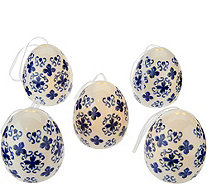 Set of (5) Illuminated Translucent Porcelain Eggs by Valerie - H211835