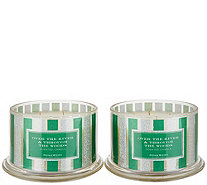 Ships 12/7 HomeWorx Set of (2) 18oz The Woods 4-Wick Candles - H219035