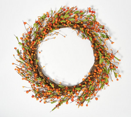 "24"" Harvest Pip Berry Wreath by Valerie"